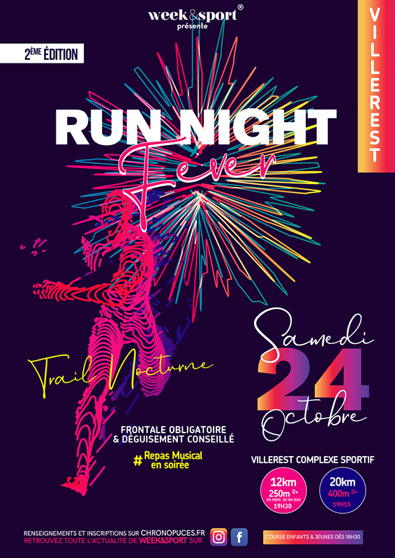 Affiche - Run Night Fever
