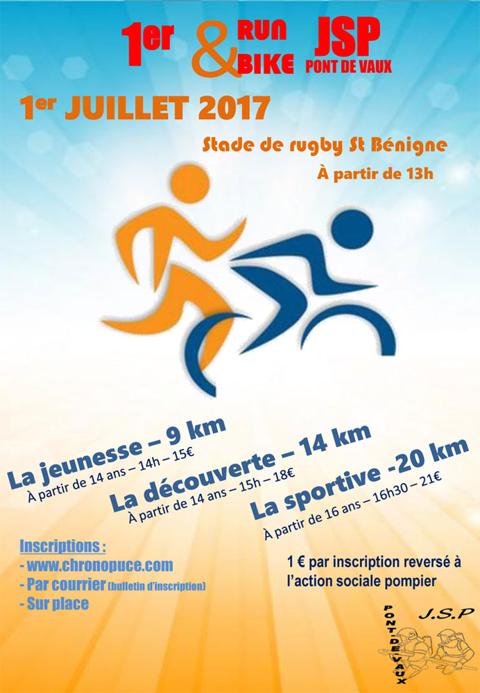 Affiche - Run and Bike JSP Pont de Vaux
