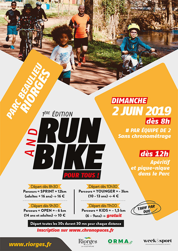 Affiche - Run and Bike Riorges